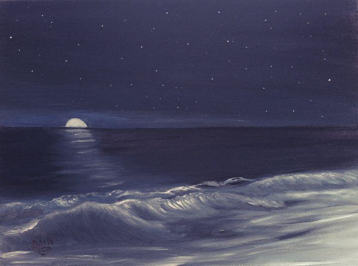 A Rising Moon - Richersd Art Studios, LLC