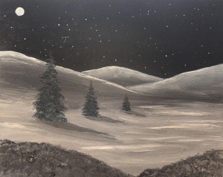 A December Night - Richersd Art Studios, LLC