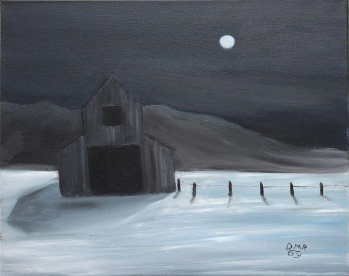 A barn in winter - Richersd Art Studios, LLC