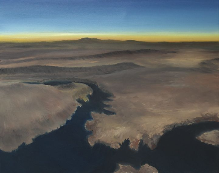 A pilot's view - Lake Mead - Richersd Art Studios, LLC