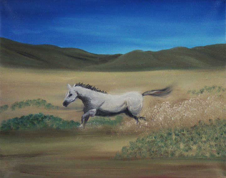 Mustang Galloping - Richersd Art Studios, LLC