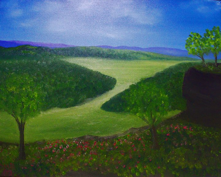 An appalachian valley overlook - Richersd Art Studios, LLC