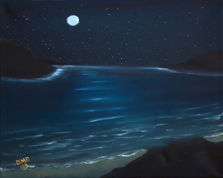 A MIDNIGHT SEASCAPE - Richersd Art Studios, LLC