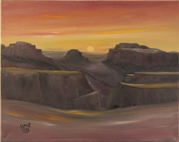 Canyon Sunset - Richersd Art Studios, LLC