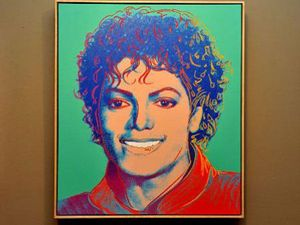 Michael Jackson after death painting