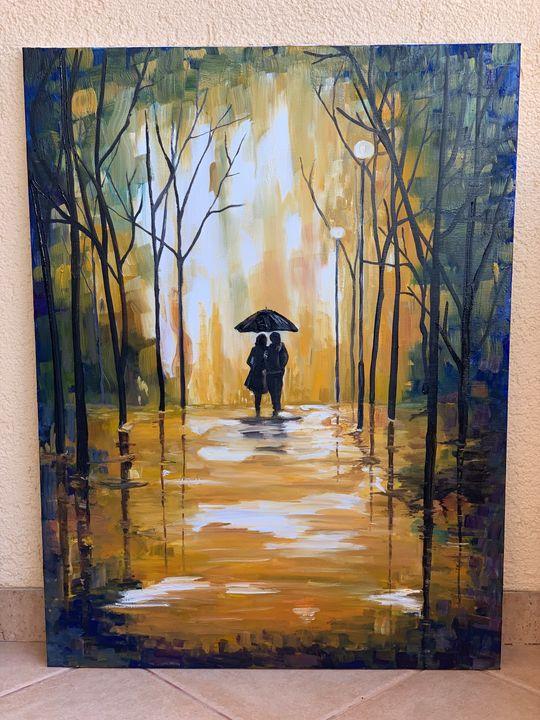 Original hand painted - oil painting - Fatbardha Dibra