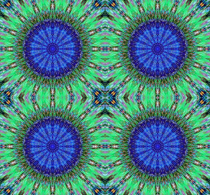 Paisley kaleidoscope. Peacock colors - Sofia Goldberg's Gallery