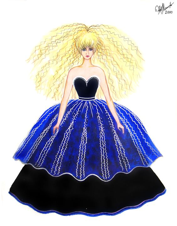 Princess-doll costume fashion sketch - Sofia Goldberg's Gallery