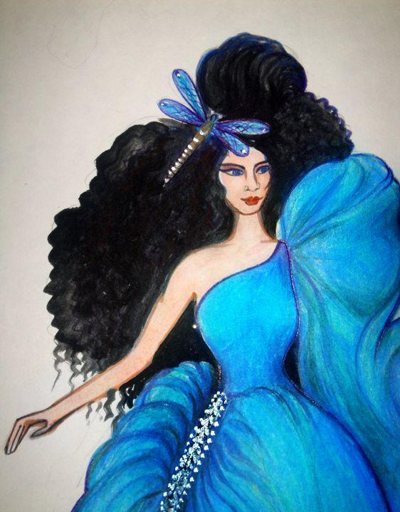 Goddess of river. Fashion sketch - Sofia Goldberg's Gallery