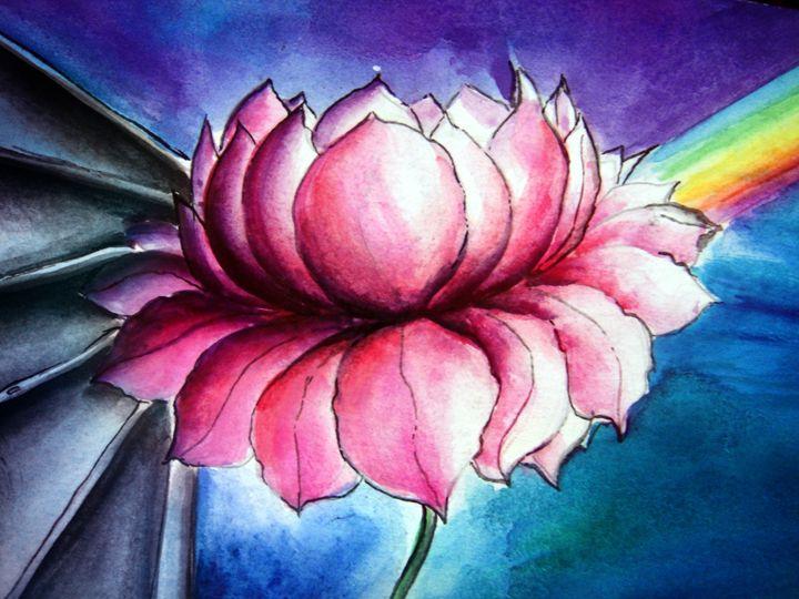 Pink lotus and rainbow light - Sofia Goldberg's Gallery