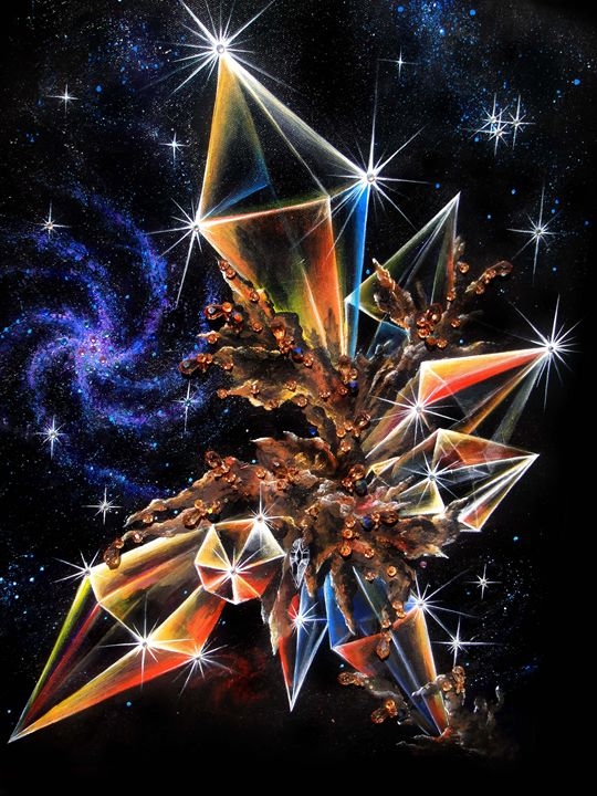 Brown diamond crystals in space - Sofia Goldberg's Gallery