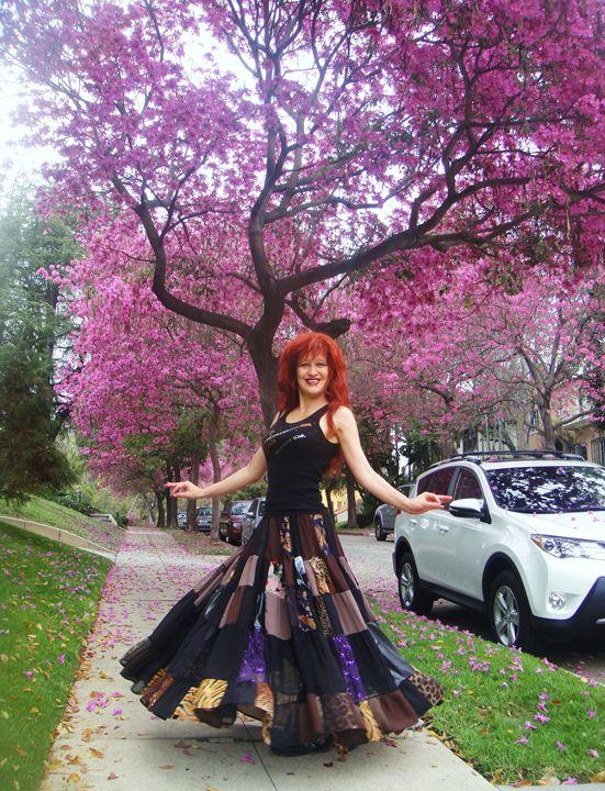 Hippie skirt in gypsy dance style - Sofia Goldberg's Gallery