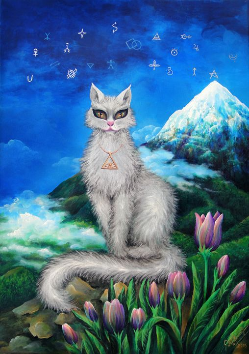 Mystical Cat who brings good luck - Sofia Goldberg's Gallery