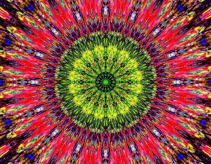 Paisley kaleidoscope, red yellow - Sofia Goldberg's Gallery
