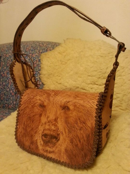 Grizzly Leather Purse - Rehnbeau