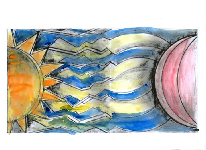 Sun Electrifying the Moon - Mary C. Angers