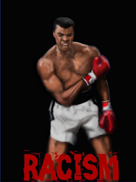 Ali knocks Out Racism - D.K. Mouring Creations
