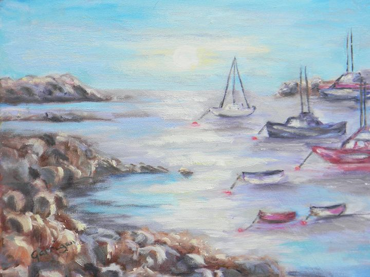 Sunrise in Rye Harbor - Garrigan Fine Art