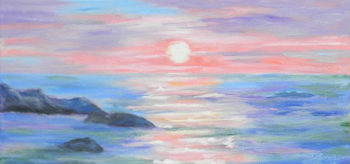 Sunrise on the Marginal Way - Garrigan Fine Art