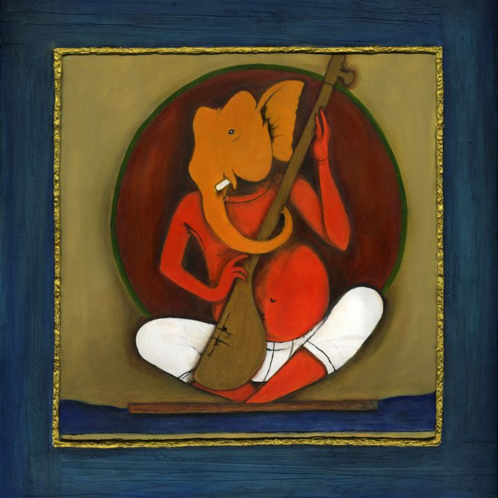 Ganesha with his strings - Rucha's Art Gallery