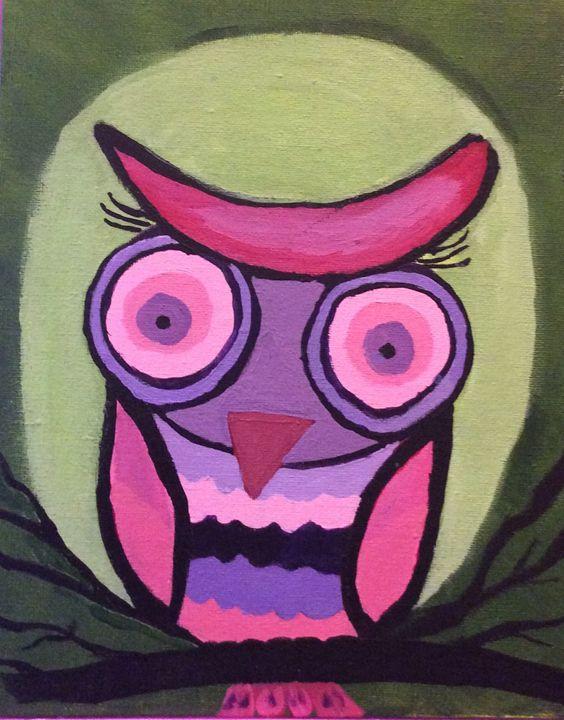 Pink owl - Sheryl Gibson