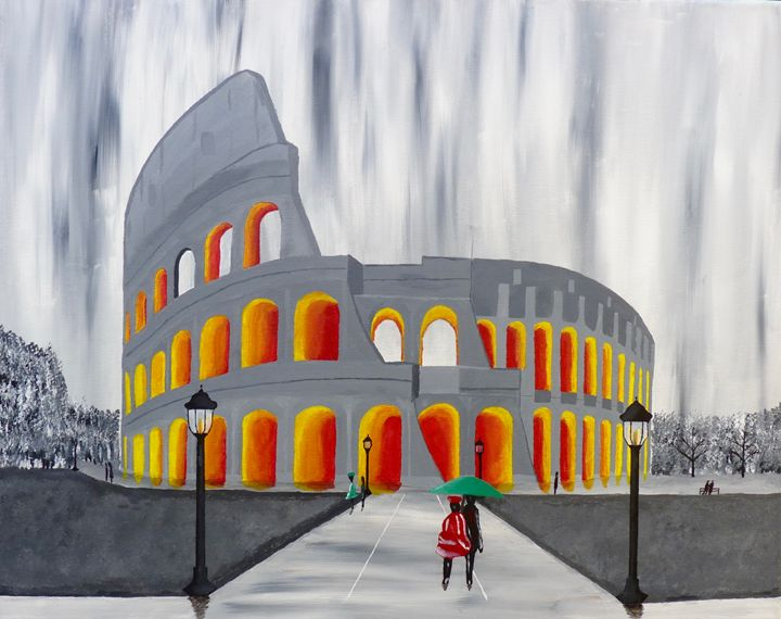 Il Colosseo - Brian Sloan Paintings - Il Pennello d'Oro Art