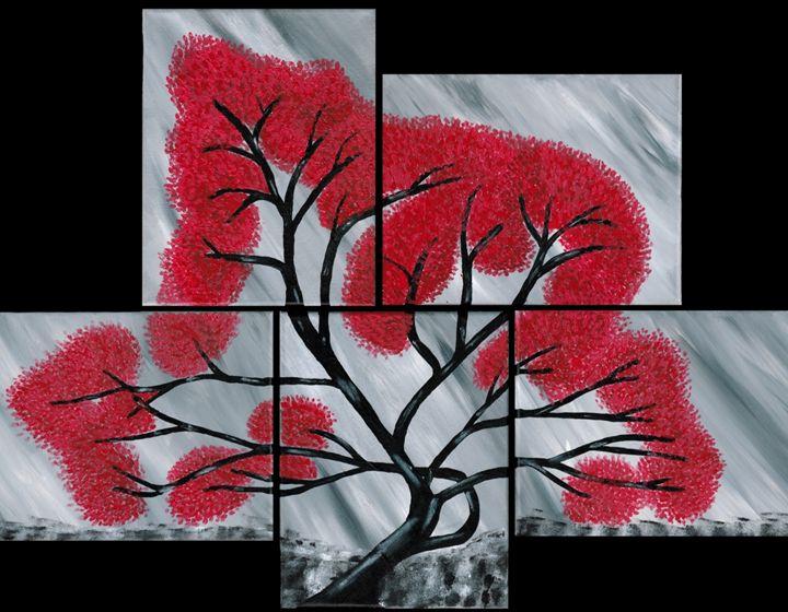 L'albero Scarlatto - Brian Sloan Paintings - Il Pennello d'Oro Art