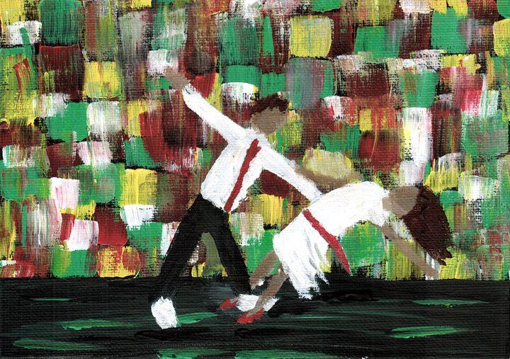 Swing Dancing - Acrylic Painting - Brian Sloan Paintings