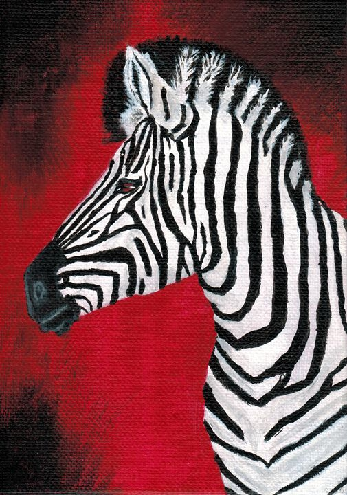 La Zebra - Brian Sloan Paintings - Il Pennello d'Oro Art