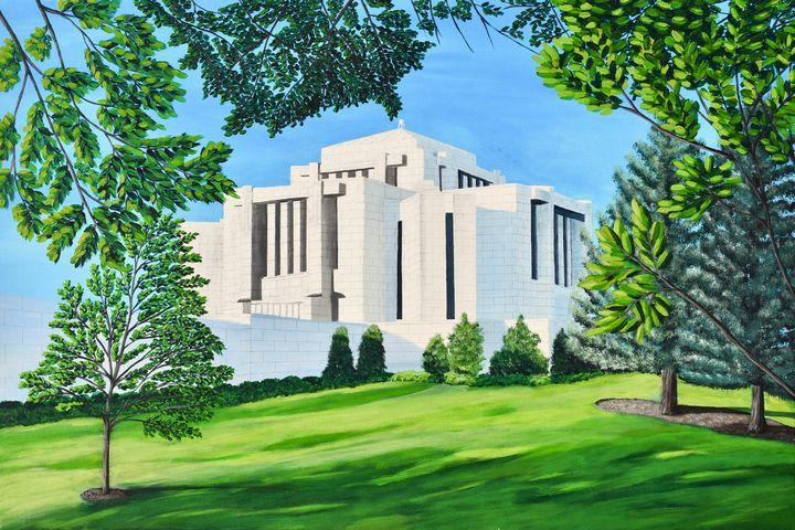 Cardston, Alberta Temple - Brian Sloan Paintings - Il Pennello d'Oro Art