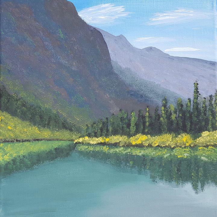 Bertha Lake, Waterton - Brian Sloan Artist