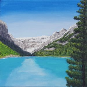 Lake Louise, Banff Acrylic Painting