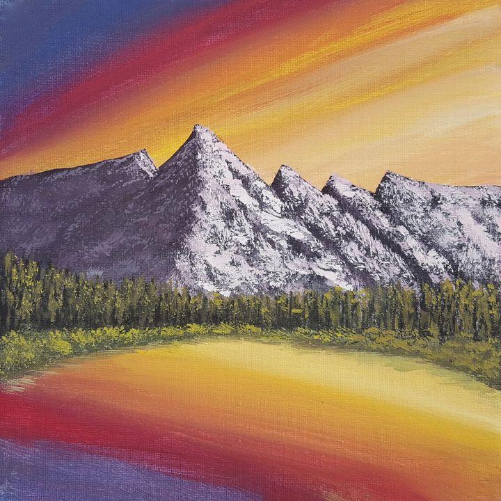 Mountain Lake at Sunset - Brian Sloan Artist