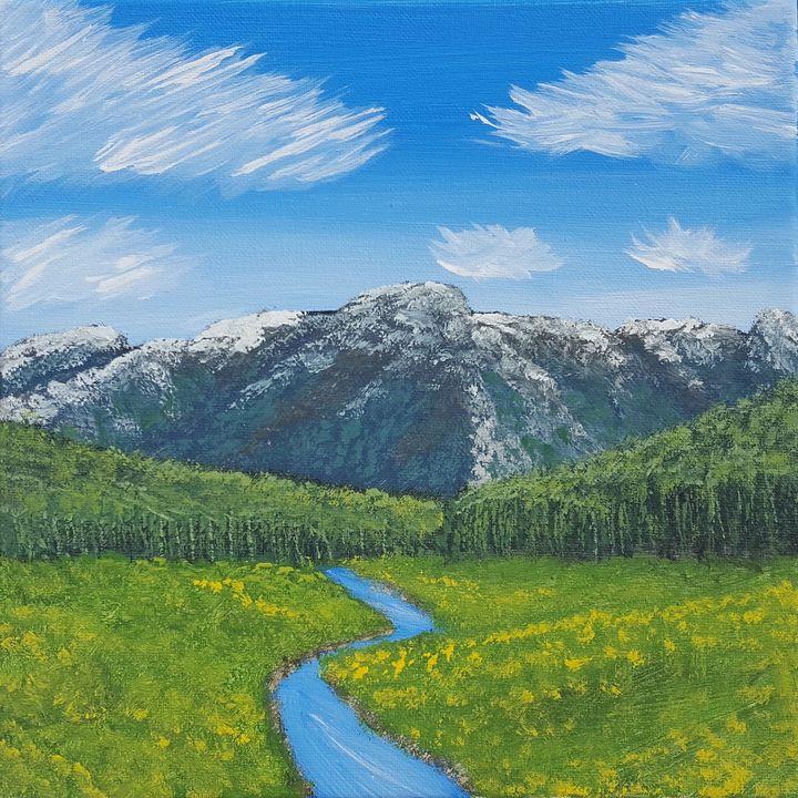 Mountain Meadow Landscape - Brian Sloan Artist