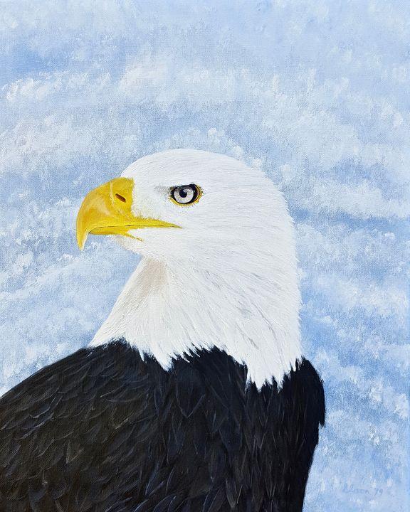 Bald Eagle - Brian Sloan Paintings - Il Pennello d'Oro Art