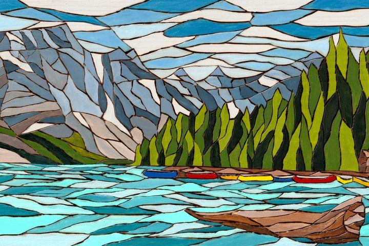 Lake Moraine, Banff - Brian Sloan Artist