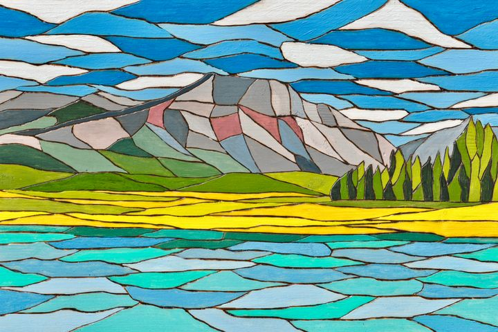 Vimy Ridge, Waterton Lakes - Brian Sloan Paintings - Il Pennello d'Oro Art