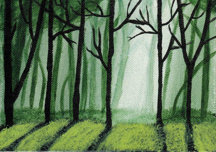 L'Alba tra gli Alberi - Brian Sloan Paintings - Il Pennello d'Oro Art