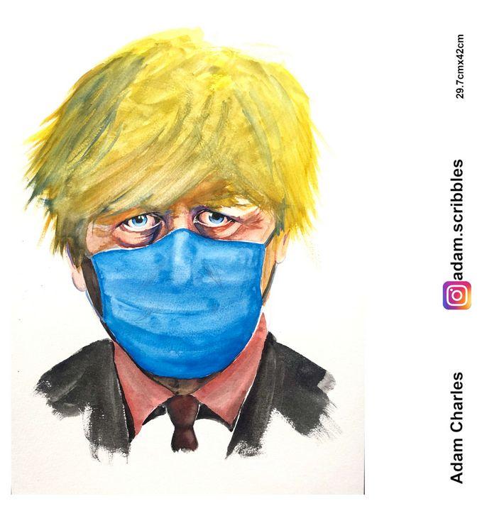 Boris masked - Adam Scribbles
