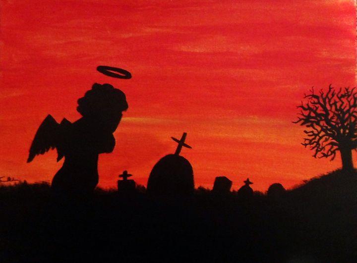 Sunset graveyard - Travis Burden Art