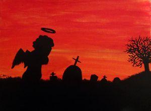 Sunset graveyard