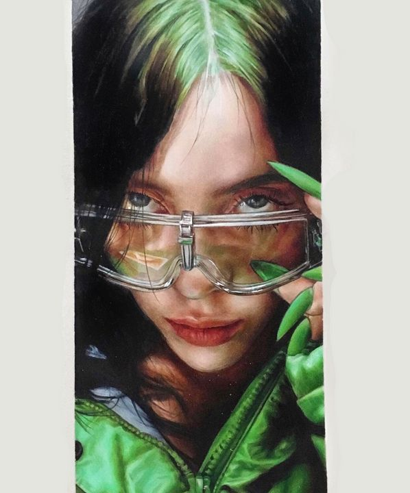 Billie Close Up - GREEN - Vicky Xu