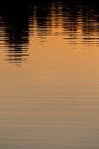 Sunset reflection on the lake