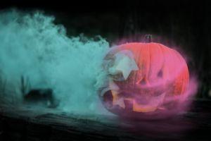 Halloween Pumpkin Neon Light Vibes
