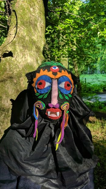 Neo-shaman masque - Fehér Hanna