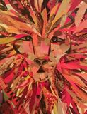 18x24 print of lion collage