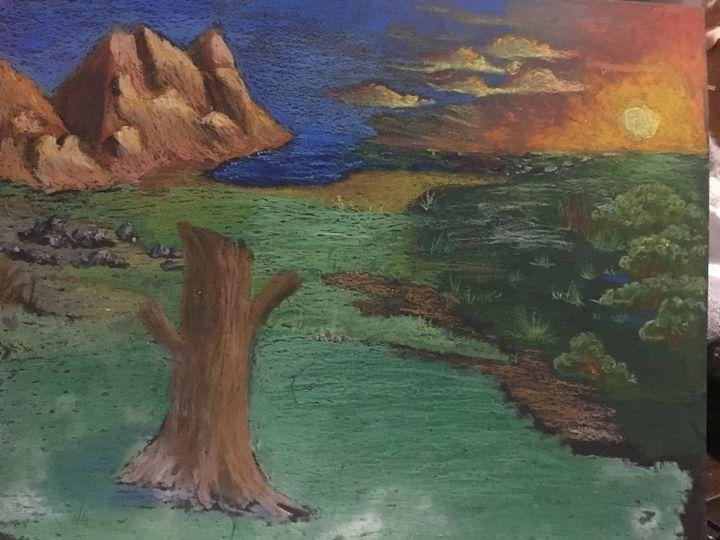 Pastel landscape - Dale's Artbook