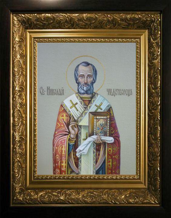"""Icon """"St. Nicholas the Wonderworker"""" - Online art gallery. Ukraine artists"""