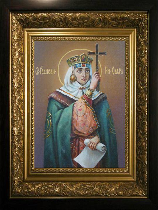 Saint Olga, Equal of the Apostles - Online art gallery. Ukraine artists
