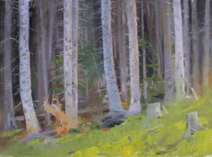"Chernov D. ""Summer spruces"""
